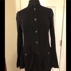 J Jill black lightweight jacket - button front M